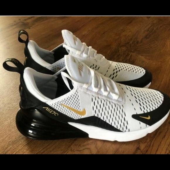 Nike Air Max 270 White/Gold Women's size 8.5
